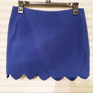 Blue Mini Skirt